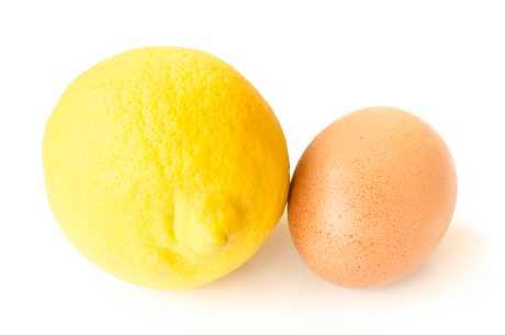 Sitron og egg mot fet hud