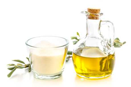 Olivenolje og sukker