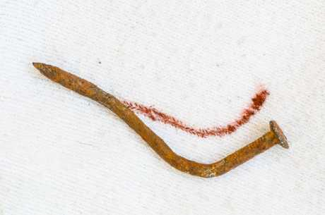 Rustflekk på tekstil